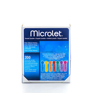Kulørte Microlet lancetter