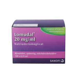 Lomudal øjendr 20 mg/ml