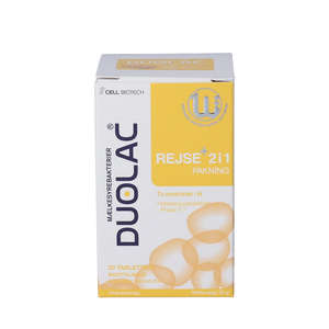 Duolac Rejse+ 2 i 1 med Prolac-T™ Tyggetabletter