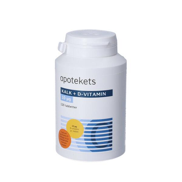 Apotekets Kalk og D-vitamin tabletter