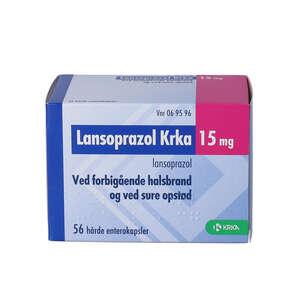 Lansoprazol KRKA 15 mg 56 stk