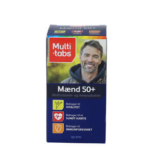 Multi-tabs Mænd 50+ tabletter