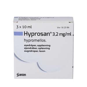 Hyprosan 3*10 ml øjendråber