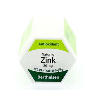Berthelsens Naturlig Zink tabletter