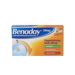 Benaday 10 mg 7 stk