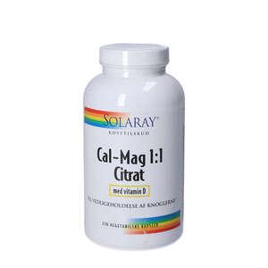 Solaray Cal-Mag 1:1 Citrat med D-vitamin ( 270 stk)