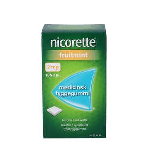 Nicorette fruitmint 2 mg 105 stk