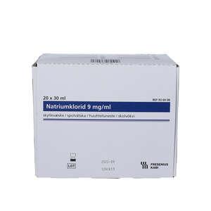 Natriumklorid isotonisk skyllevæske (20x30 ml)