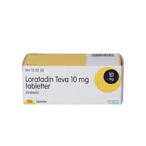 """Loratadin """"Teva"""" 10 mg 100 stk"""