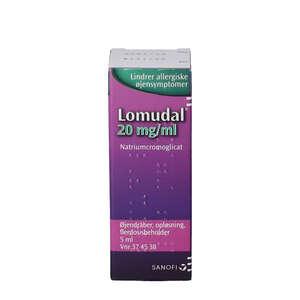 Lomudal øjendråber 5 ml