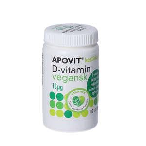 Apovit D-vitamin Vegansk 10 mikrg (400 IE) 100 stk