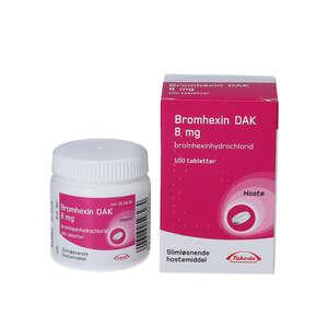 "Bromhexin ""DAK"" 8 mg 100 stk"