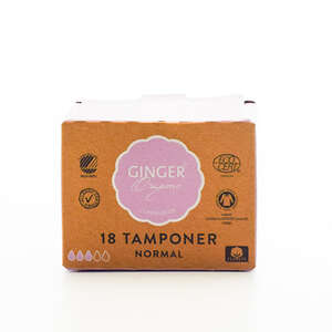 GingerOrganic Tamponer Normal (18 stk)