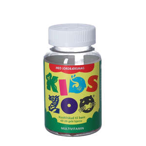 Kids Zoo Multivitaminer (jordbær)