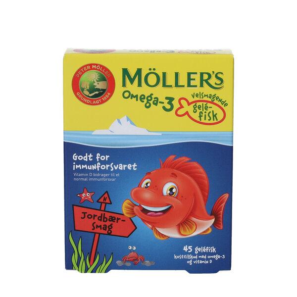 Möllers Omega-3 fisk (jordbær)