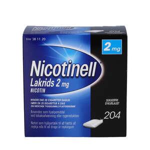 Nicotinell Lakrids 2 mg 204 stk