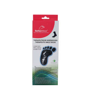 Reflexwear Terapeutisk Ankelstrømpe (L/Tyk/Sort)