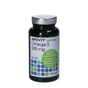 Apovit Omega-3 Kapsler 500 mg (120 stk)
