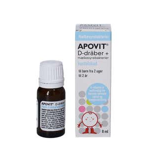 Apovit D-dråber + Mælkesyrebakterier (8 ml)