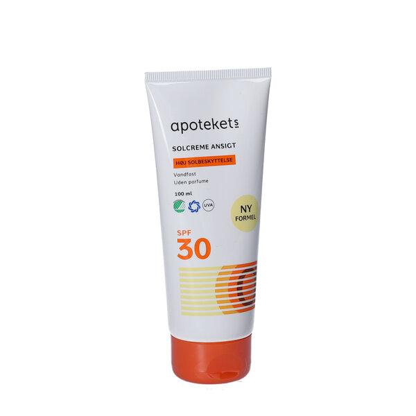 Apotekets Solcreme Ansigt SPF 30 (100 ml)