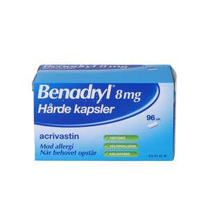 Benadryl 8 mg 96 stk