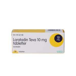 """Loratadin """"Teva"""" 10 mg 30 stk"""