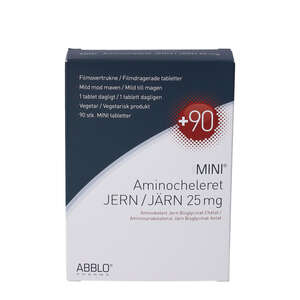 ABBLO MINI Aminocheleret Jern (90 stk)
