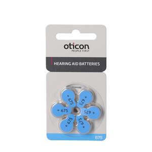 Oticon Zinc Air batterier 6 stk. (OT 675)